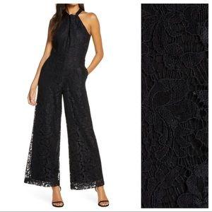 NWT. Julia Jordan Black Lace Jumpsuit. Size 2.